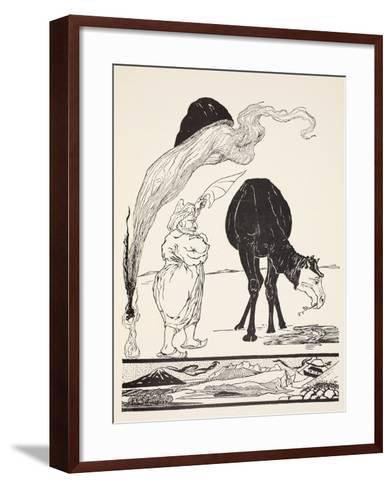 The Djinn in Charge of All Deserts Guiding the Magic with His Magic Fan-Rudyard Kipling-Framed Art Print