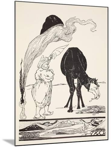 The Djinn in Charge of All Deserts Guiding the Magic with His Magic Fan-Rudyard Kipling-Mounted Giclee Print