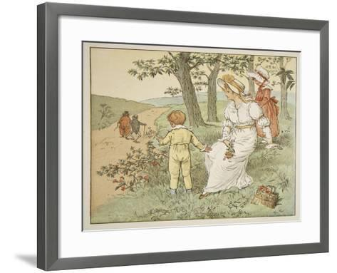 Walking to Mousey's Hall, Illustration from 'A Frog He Would A-Wooing Go'-Randolph Caldecott-Framed Art Print