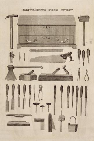 A Gentleman's Tool Chest, from the Catalogue of Cutler and Co. (Engraving)-English-Stretched Canvas Print