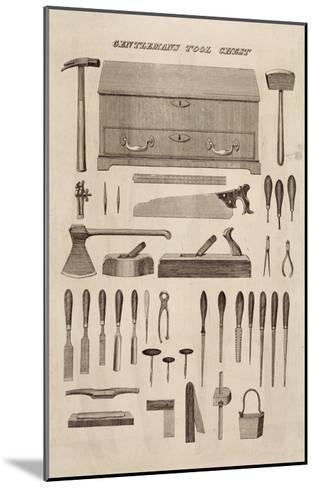A Gentleman's Tool Chest, from the Catalogue of Cutler and Co. (Engraving)-English-Mounted Giclee Print