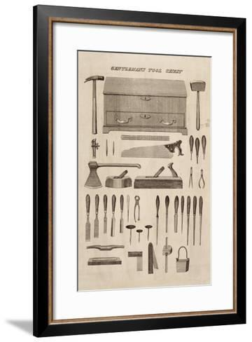A Gentleman's Tool Chest, from the Catalogue of Cutler and Co. (Engraving)-English-Framed Art Print