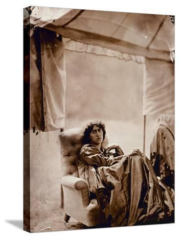 Portrait of Jane Morris (1839-1914) 1865 (Albumen Print)-John R. Parsons-Stretched Canvas Print