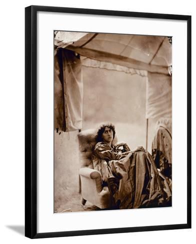 Portrait of Jane Morris (1839-1914) 1865 (Albumen Print)-John R. Parsons-Framed Art Print