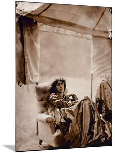 Portrait of Jane Morris (1839-1914) 1865 (Albumen Print)-John R. Parsons-Mounted Giclee Print