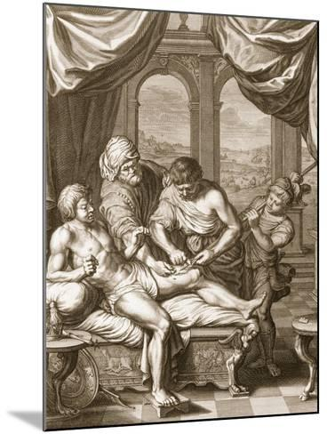 Telephus Cured by the Rust of the Same Spear Which Wounded Him, 1731 (Engraving)-Bernard Picart-Mounted Giclee Print