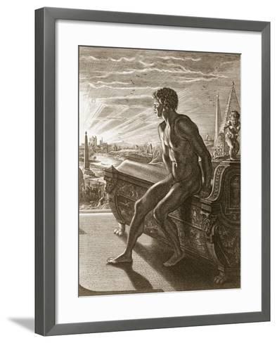 Memnon's Statue, 1731 (Engraving)-Bernard Picart-Framed Art Print