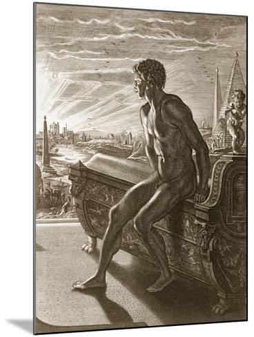 Memnon's Statue, 1731 (Engraving)-Bernard Picart-Mounted Giclee Print