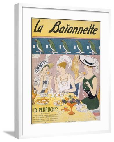 Cover Illustration from 'La Baionnette' Magazine, 1914-18 (Colour Litho)-French-Framed Art Print