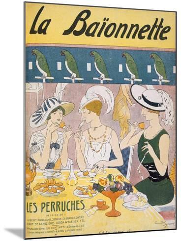 Cover Illustration from 'La Baionnette' Magazine, 1914-18 (Colour Litho)-French-Mounted Giclee Print