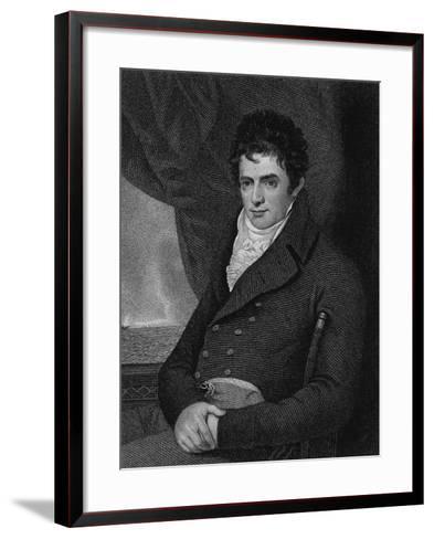 Robert Fulton (1765-1815), Engraved by George Parker (Fl.1834-D.1868) (Engraving)-Benjamin West-Framed Art Print