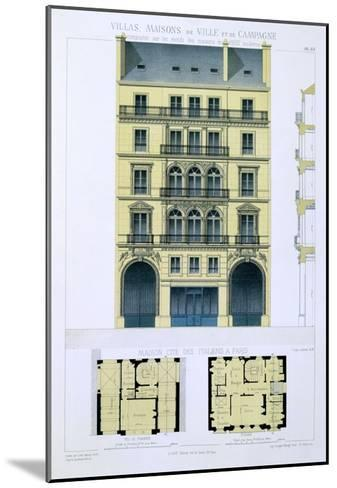 Town House of Italians in Paris, from 'Town and Country Houses Based on the Modern Houses of Paris'-Leon Isabey-Mounted Giclee Print