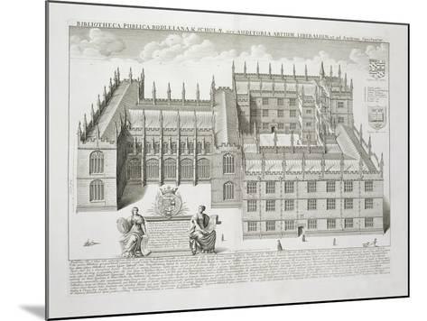 Bodleian Library, Oxford, from 'Oxonia Illustrata', Published 1675 (Engraving)-David Loggan-Mounted Giclee Print