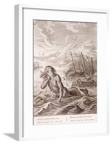 Glaucus Turned into a Sea-God, 1731 (Engraving)-Bernard Picart-Framed Art Print