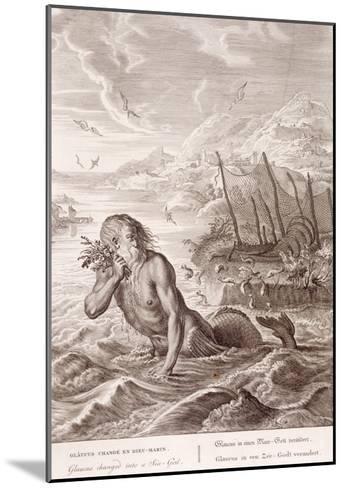 Glaucus Turned into a Sea-God, 1731 (Engraving)-Bernard Picart-Mounted Giclee Print