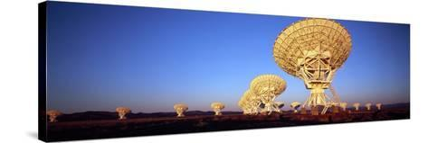 Radio Telescopes in a Field, Very Large Array, National Radio Astronomy Observatory, Magdalena, ...--Stretched Canvas Print