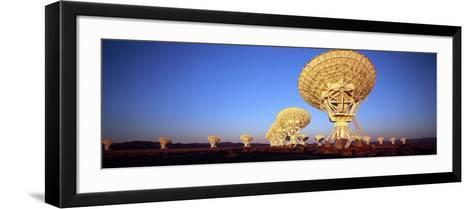 Radio Telescopes in a Field, Very Large Array, National Radio Astronomy Observatory, Magdalena, ...--Framed Art Print