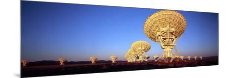 Radio Telescopes in a Field, Very Large Array, National Radio Astronomy Observatory, Magdalena, ...--Mounted Photographic Print