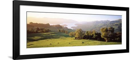 Akaroa Harbor Canterbury New Zealand--Framed Art Print