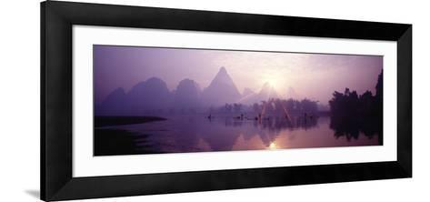 China, Guilin, Fishermen--Framed Art Print