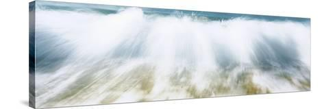 Surf Fountains Big Makena Beach Maui HI USA--Stretched Canvas Print