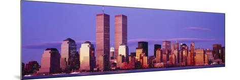 Skyscrapers in a City, Manhattan, New York City, New York State, USA--Mounted Photographic Print