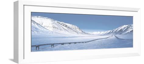 Alaska Pipeline Brooks Range AK--Framed Art Print
