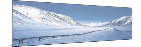 Alaska Pipeline Brooks Range AK--Mounted Photographic Print