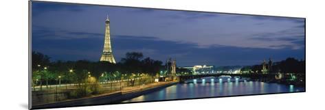 France, Paris, Eiffel Tower , Seine River--Mounted Photographic Print