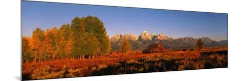 Sunrise Grand Teton National Park WY USA--Mounted Photographic Print