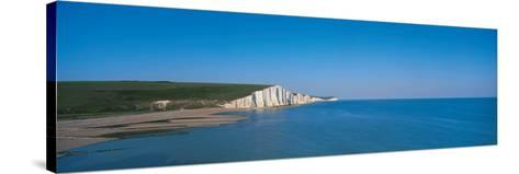 The Seven Sisters at Beachy Head Sussex England--Stretched Canvas Print