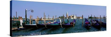 Church of San Giorgio Maggiore and Gondolas Venice Italy--Stretched Canvas Print