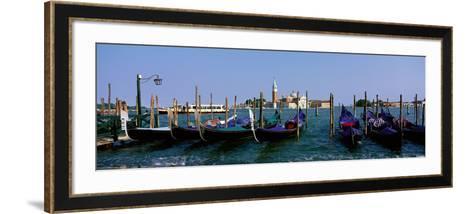 Church of San Giorgio Maggiore and Gondolas Venice Italy--Framed Art Print