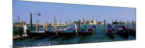 Church of San Giorgio Maggiore and Gondolas Venice Italy--Mounted Photographic Print