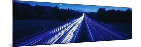 Autobahn with Traffic Near Irschenberg Germany--Mounted Photographic Print