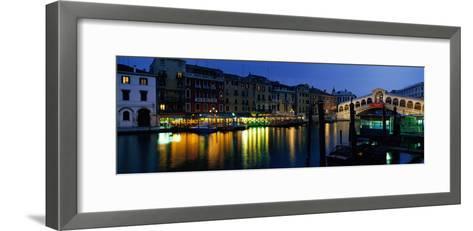 Grand Canal and Rialto Bridge Venice Italy--Framed Art Print