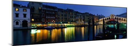 Grand Canal and Rialto Bridge Venice Italy--Mounted Photographic Print