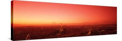 France, Paris, Aerial View--Stretched Canvas Print
