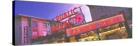 The Public Market Seattle WA USA--Stretched Canvas Print