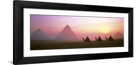 Giza Pyramids Egypt--Framed Art Print