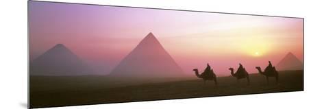 Giza Pyramids Egypt--Mounted Photographic Print