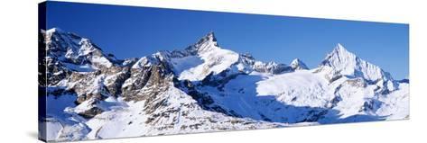 Mountains Nr Matterhorn Canton Valais Switzerland--Stretched Canvas Print