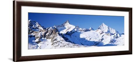 Mountains Nr Matterhorn Canton Valais Switzerland--Framed Art Print