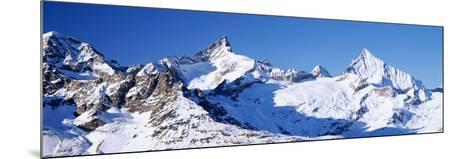 Mountains Nr Matterhorn Canton Valais Switzerland--Mounted Photographic Print