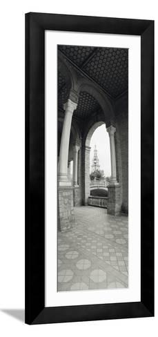 Interiors of a Plaza, Plaza De Espana, Seville, Seville Province, Andalusia, Spain--Framed Art Print