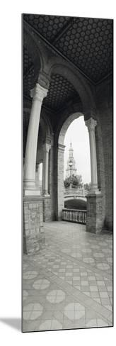 Interiors of a Plaza, Plaza De Espana, Seville, Seville Province, Andalusia, Spain--Mounted Photographic Print