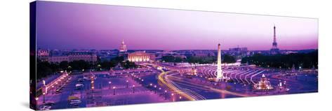 Dusk Place De La Concorde Paris France--Stretched Canvas Print