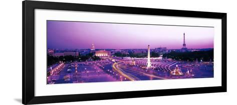 Dusk Place De La Concorde Paris France--Framed Art Print