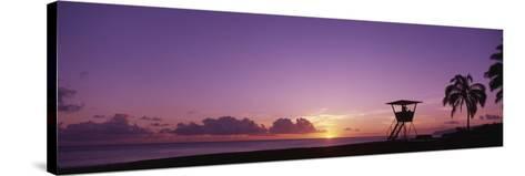 Waimea Bay Oahu HI USA--Stretched Canvas Print