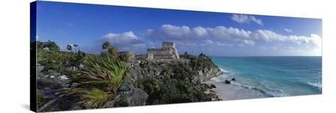 El Castillo Tulum Mexico--Stretched Canvas Print